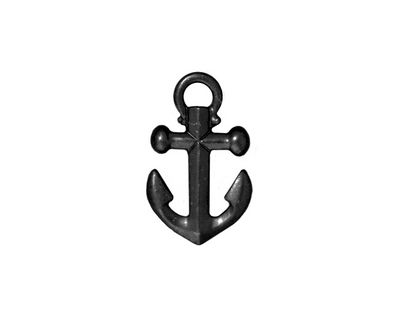 TierraCast Gunmetal Anchor Charm 12x20mm