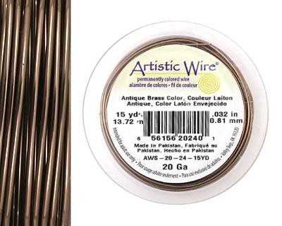 Artistic Wire Antique Brass 20 gauge, 15 yards