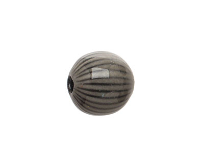 Painting with Fire Torch Fired Enamel Nut Brown/Elan Gray Ridge Round 14mm