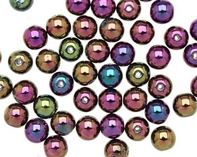 Czech Glass Iris Purple Round 6mm