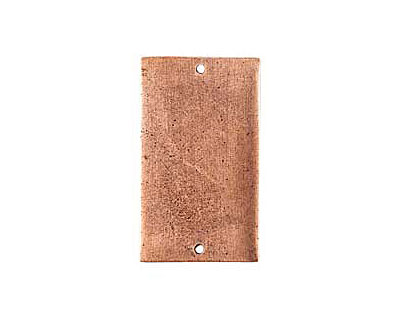 Nunn Design Antique Copper (plated) Flat Grande Rectangle Tag Link 37x21mm