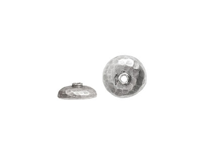 Nunn Design Antique Silver (plated) Hammered Bead Cap 4x11mm