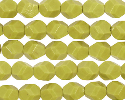 Czech Glass Chartreuse Faceted Nugget 8mm