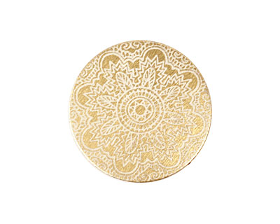 Lillypilly Gold Lace Anodized Aluminum Disc 25mm, 22 gauge