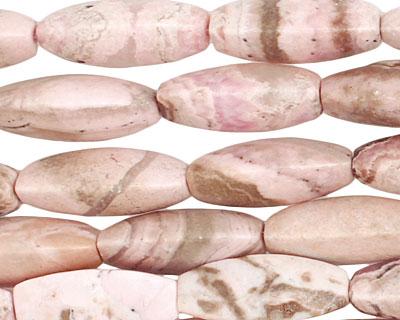 Rhodochrosite (soft pink) 3-Sided Rice 22x9mm