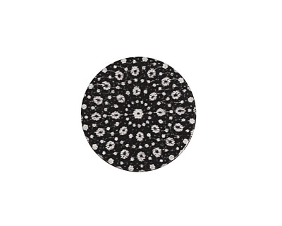 Lillypilly Black Crochet Anodized Aluminum Disc 19mm, 22 gauge