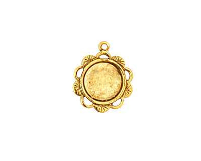 Stampt Antique Gold (plated) Spring Blossom Round Setting 9mm