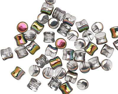 Czech Glass Vitrail Hourglass 4x6mm
