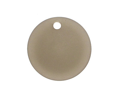 Smoky Recycled Glass Concave Coin 24mm