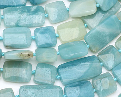 Amazonite Thin Pillow & Square Mix 15x15-30mm