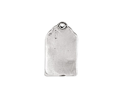Rustic Charms Sterling Silver Blank Tag Blank 21x12mm