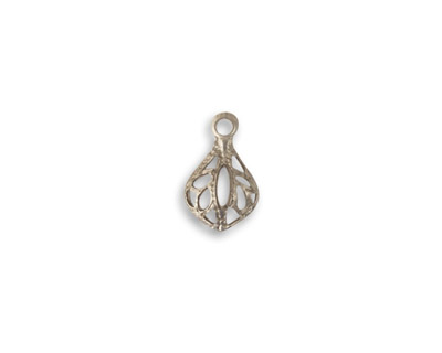 Vintaj Pewter Filigree Teardrop 8x12mm