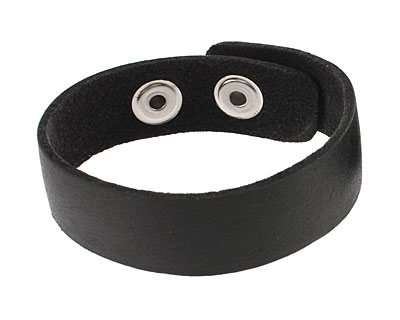 Black Leather Cuff Bracelet 7/8