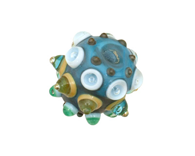 The BeadsNest Lampwork Glass Bumpy Bead 18-19x20-23mm
