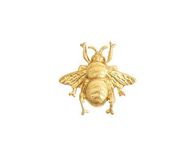 Nunn Design Brass Bumblebee Embellishment 18x19mm