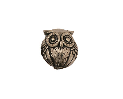 Green Girl Pewter Double Owl 15x14mm