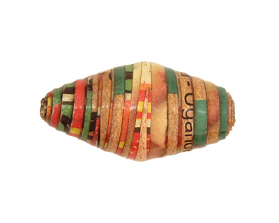 African Paper (red, green, orange) Rice 29-30x16-17mm