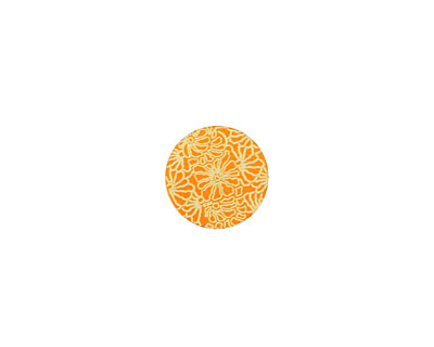 Lillypilly Orange Weathered Daisy Anodized Aluminum Disc 11mm, 24 gauge