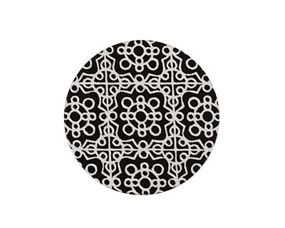 Lillypilly Black Baroque Anodized Aluminum Disc 25mm, 22 gauge