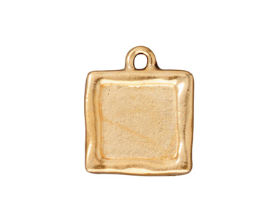 TierraCast Antique Gold (plated) Simple Square Frame Drop 18x21mm