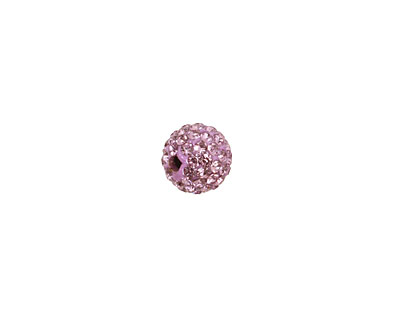 Lilac Pave Round 8mm (1.5mm hole)