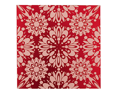 Lillypilly Red Kaleidoscope Anodized Aluminum Sheet 3