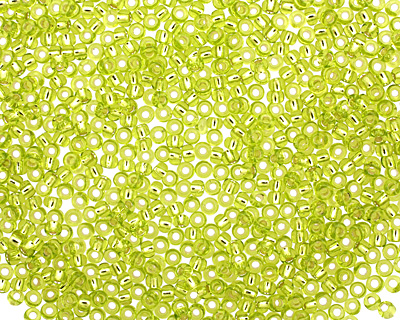 TOHO Lime Green (with Silver Lining) Round 11/0 Seed Bead