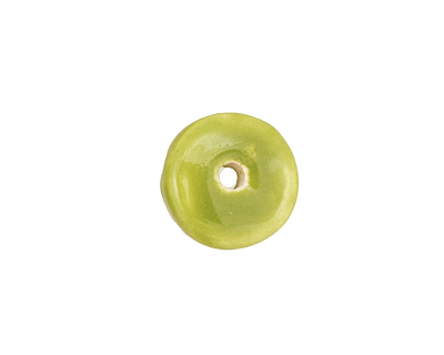 Jangles Ceramic Chartreuse Small Round Disc 15mm