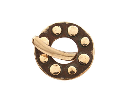 Saki Bronze Dotted Toggle Clasp 22mm, 24mm bar