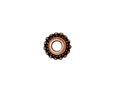 TierraCast Antique Copper (plated) Beaded Twist Euro 6x11mm