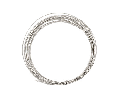 German Style Wire Silver (plated) Fancy Round 24 gauge, 5.5 meters