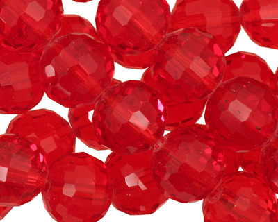 Siam Ruby Crystal Micro-Faceted Round 12mm