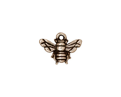 TierraCast Antique Silver (plated) Honey Bee Charm 15x12mm