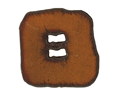 The Lipstick Ranch Rusted Iron Square Button 38mm