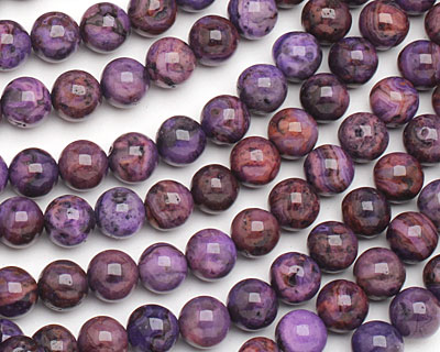 Purple Crazy Lace Agate Round 8mm