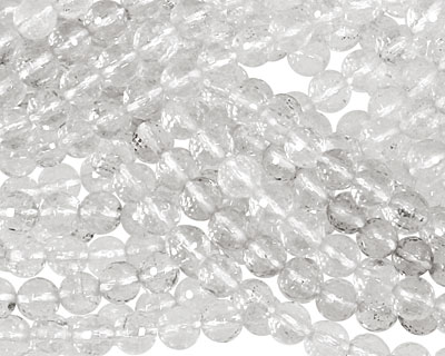 Rock Crystal Faceted Round 6mm