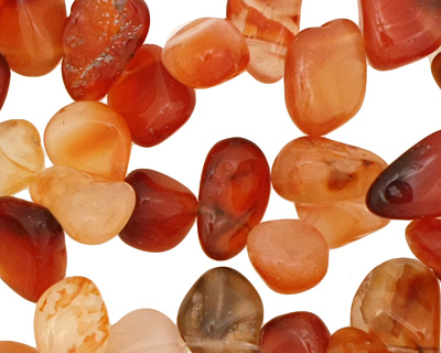 Carnelian Tumbled Nugget Drop 9-14x10-15mm