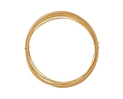 German Style Wire Non Tarnish Brass Fancy Round 20 gauge, 3 meters