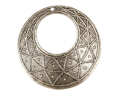 Stampt Antique Pewter (plated) Pyramid Print Gypsy Hoop 50mm