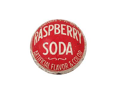 Trinket Foundry Raspberry Soda Bottle Cap Puff Coin 22mm