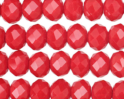 Scarlet Crystal Faceted Rondelle 10mm