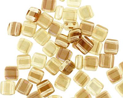 CzechMates Glass Twilight Jonquil 2-Hole Tile 6mm
