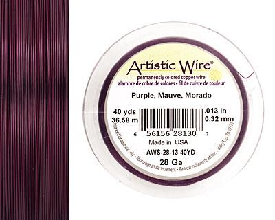 Artistic Wire Purple 28 gauge, 40 yards
