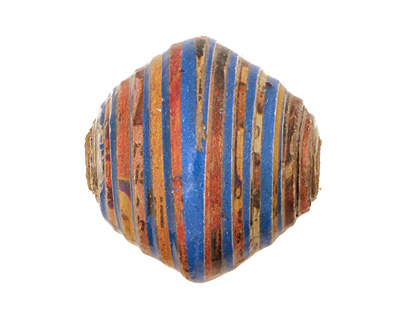 African Paper (Turquoise, Beige, Maroon) Bicone 24-25x26-27mm