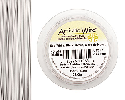 Artistic Wire Egg White 28 gauge, 40 yards
