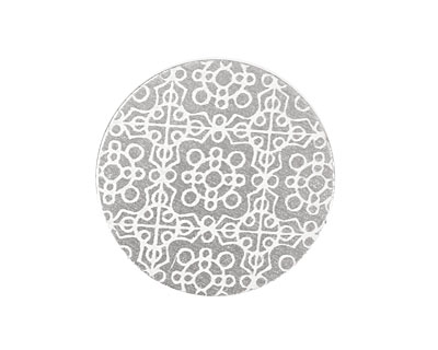 Lillypilly Silver Baroque Anodized Aluminum Disc 25mm, 22 gauge