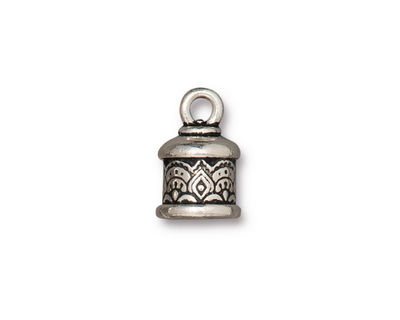 TierraCast Antique Silver (plated) Temple 6mm Cord End 15x10mm