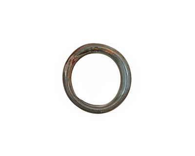 C-Koop Enameled Metal Steel Gray Large Ring 16-17mm