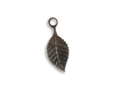 Vintaj Arte Metal Delicate Leaf Charm 9x22mm