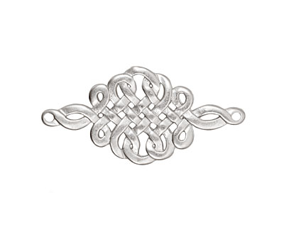 Ezel Findings Rhodium (plated) Celtic Knot Link 32x16mm